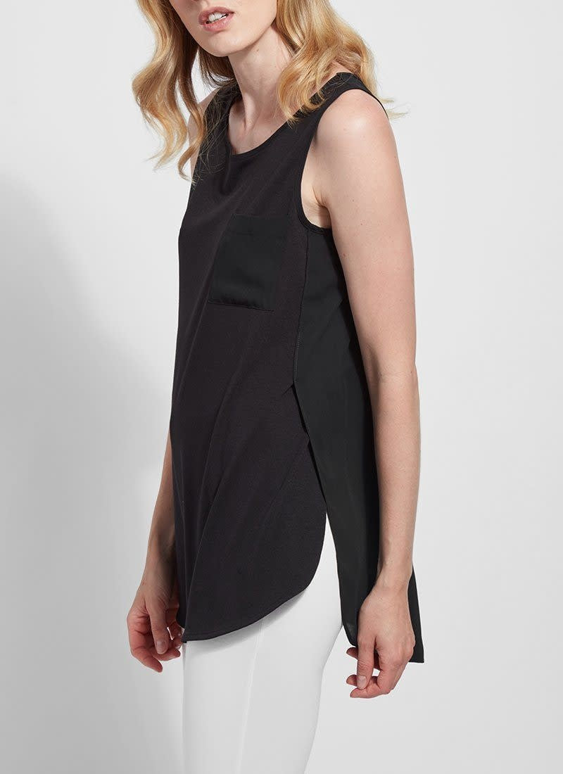 Caterina Sleeveless Top Black