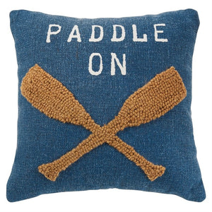 Paddle Raised Hooked Pillow