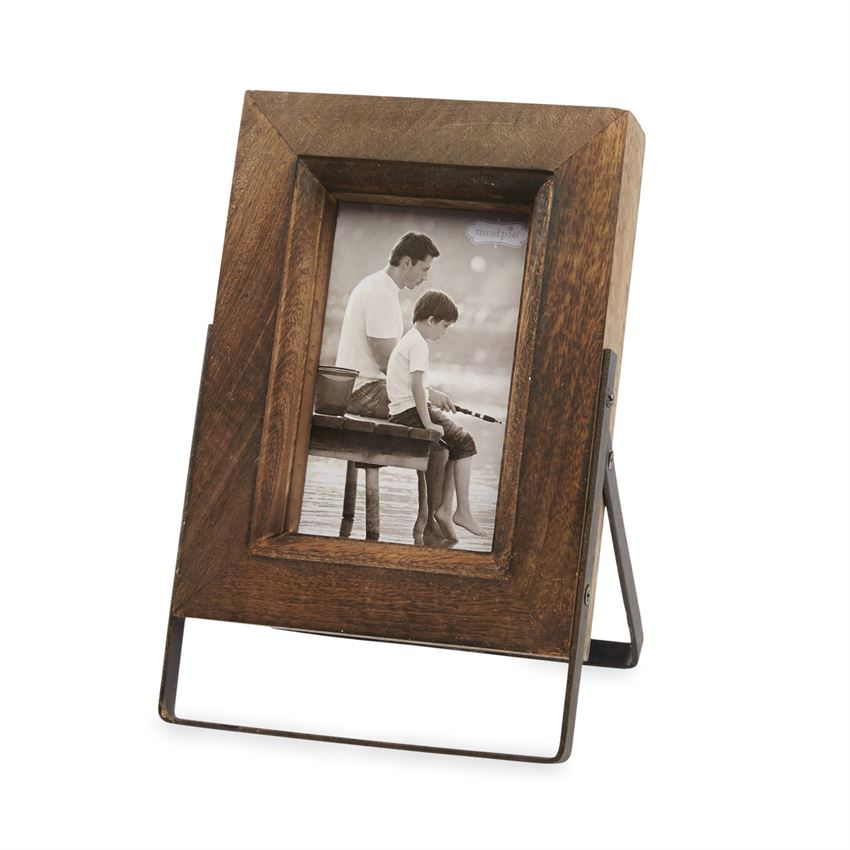 Small Distressed Wood Easel Frame