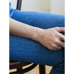 Load image into Gallery viewer, 14kt Gold Filled Layla Bar and Double Chain Bracelet