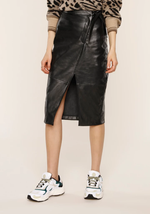 Load image into Gallery viewer, Lynda Skirt Black Leather