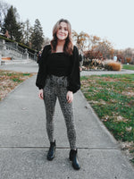 Load image into Gallery viewer, Spanx Jean-ish Ankle Leggings Taupe Snakeskin