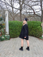 Load image into Gallery viewer, Layered Tunic Dress in Black