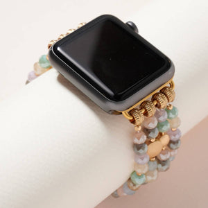 Glass Bead Multi Layered iWatch Band in Multi