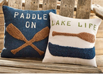 Load image into Gallery viewer, Lake Life Raised Hooked Pillow