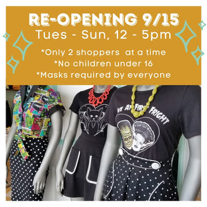 Re-Opening 9/15/2020