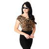 Unique Vintage Deena cap sleeve top - leopard print