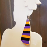 Kooky Spooky Stripes Oversized Dangle Earrings by Gem Junkie