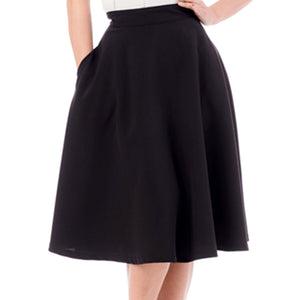 CLEARANCE - Steady Clothing High Waist Thrills skirt - black