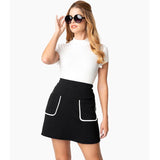 CLEARANCE - Smak Parlour Say It Loud mod pocket mini skirt - black