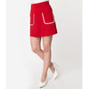 CLEARANCE - Smak Parlour Say It Loud mod pocket mini skirt - red
