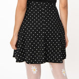 CLEARANCE - Smak Parlour Trend Setter 1960s style flare skirt - b/w polka dot