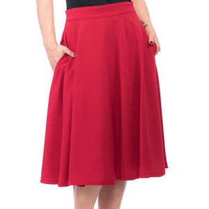 High Waist Thrills skirt - red