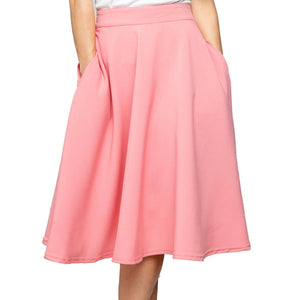 CLEARANCE - Steady Clothing High Waist Thrills skirt - blush pink