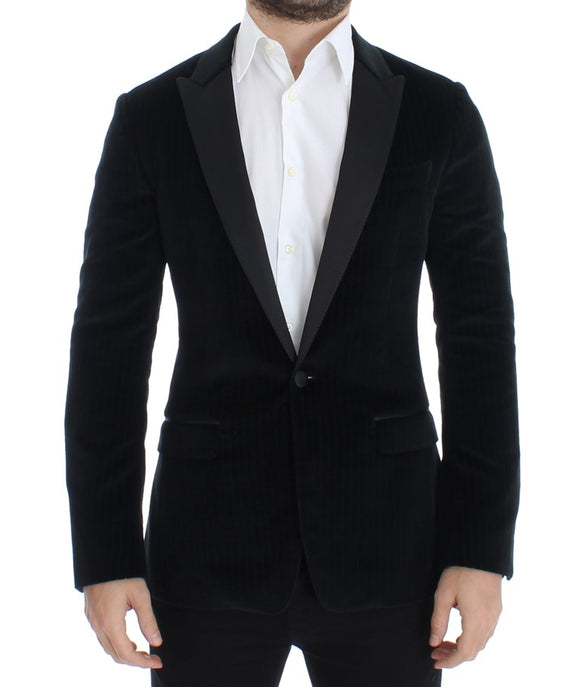 Black striped slim MARTINI blazer