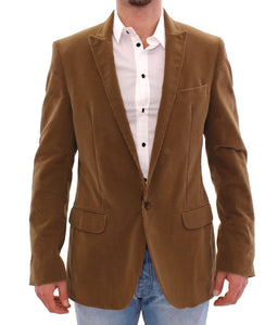 Brown manchester cotton blazer