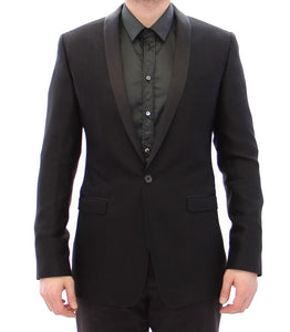 Black GOLD slim smoking blazer