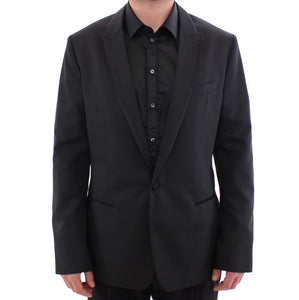Black MARTINI one button blazer