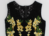 Black Floral Lace Embroidered Blouse