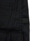Black cotton slim fit shirt