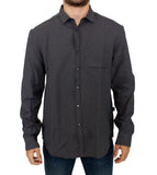 Gray linen casual shirt