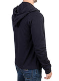 Blue hooded cotton sweater