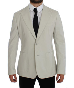White Cotton Stretch Blazer Jacket