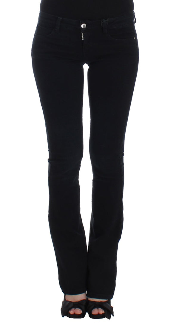 Dark Blue Straight Leg Jeans