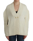 White Knitted Cape Cardigan