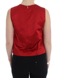 Red Silk Tank Top