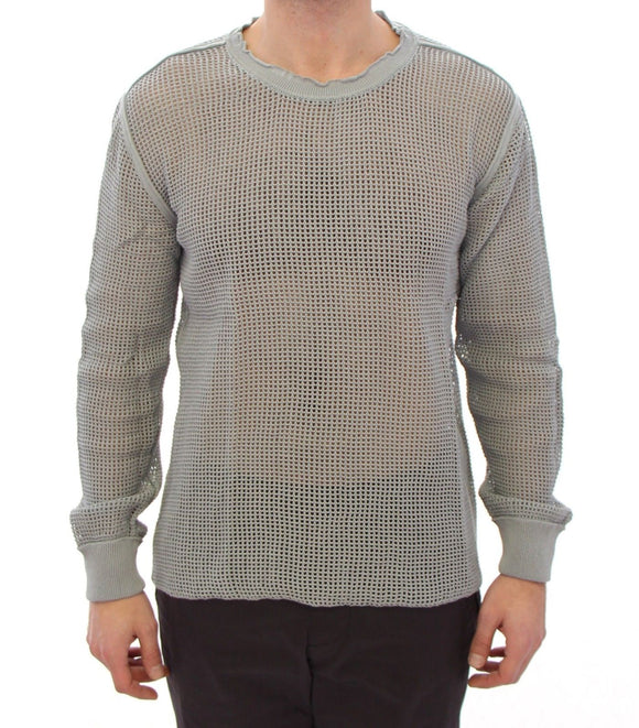 Gray Runway Logo Netz Pullover Netted Sweater