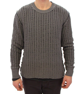 Gray Runway Netz Pullover Netted Sweater