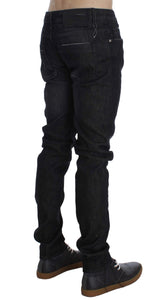 Black Cotton Stretch Slim Fit ACHT Jeans