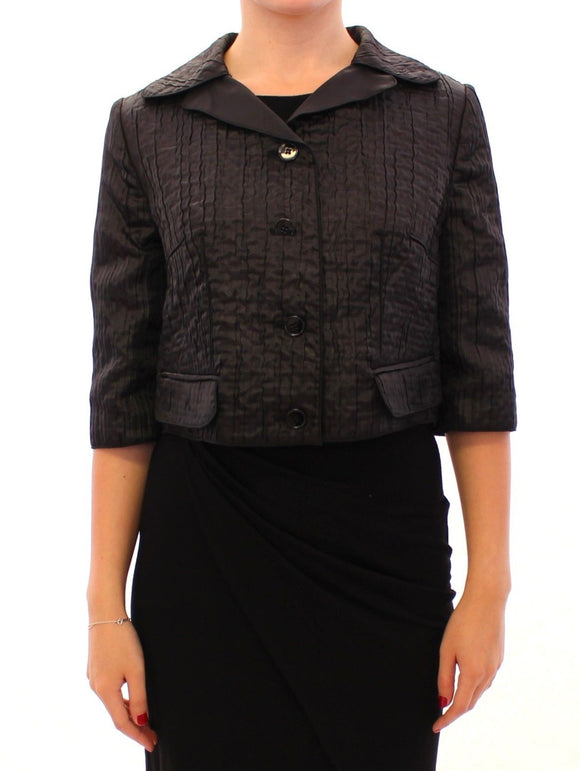 Black Short Bolero Shrug Jacket Coat