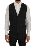 Gray Wool Silk Stretch Slim Fit 3 Piece Suit