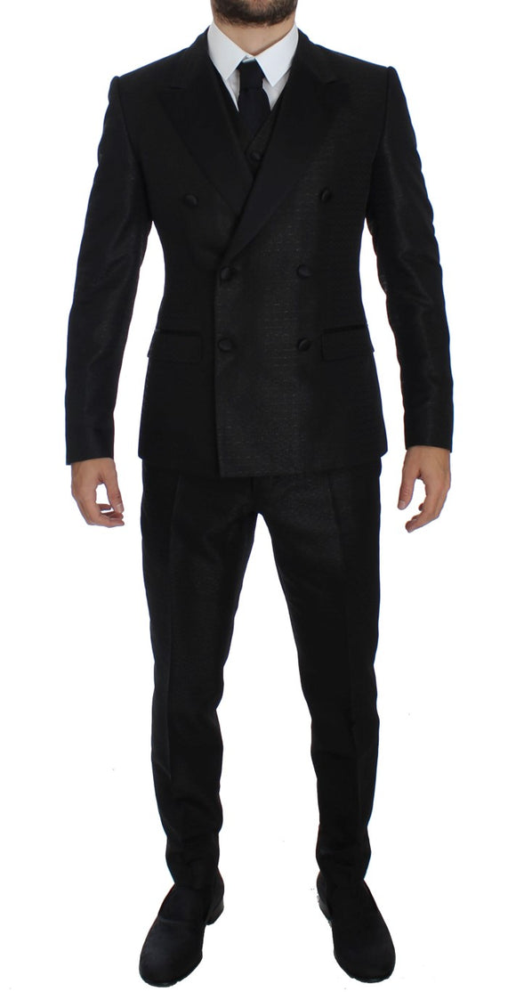 Black 3 Piece Slim Fit Suit Tuxedo