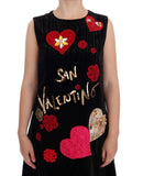 Black San Valentino Shift Dress