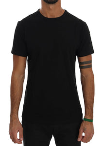 Black 100% Cotton Crewneck TShirt