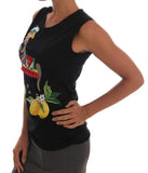 Black Crystal Lemon Tank Top