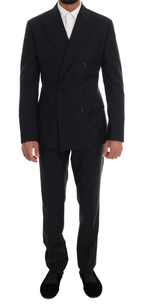 Blue Wool Double Breasted SICILIA Suit