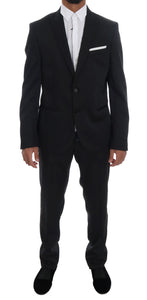 Black Two Button Slim Fit Suit