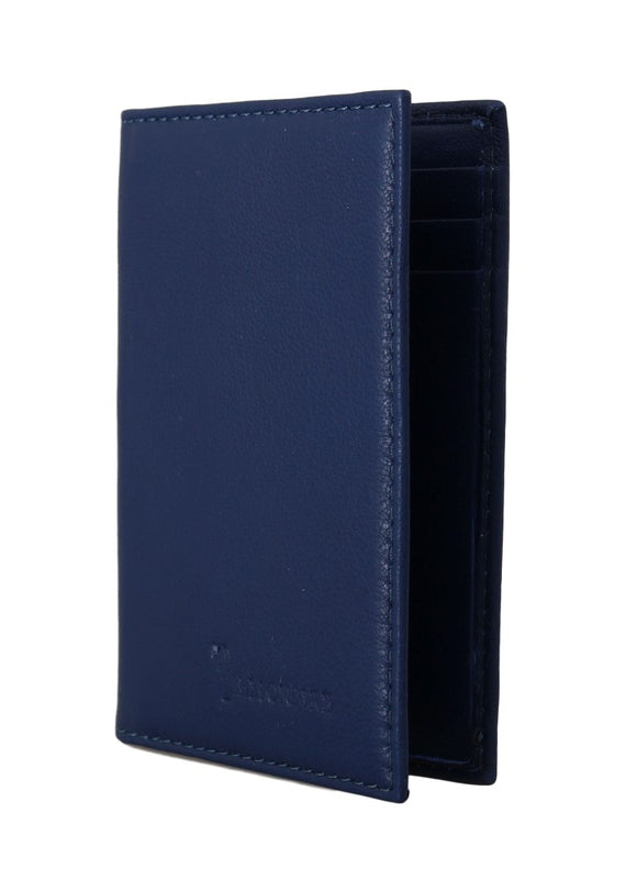 Leather Blue Bifold Wallet