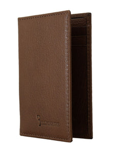 Brown 100% Leather Bifold BIC Wallet