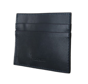 Blue Italiana Leather Cardholder Wallet