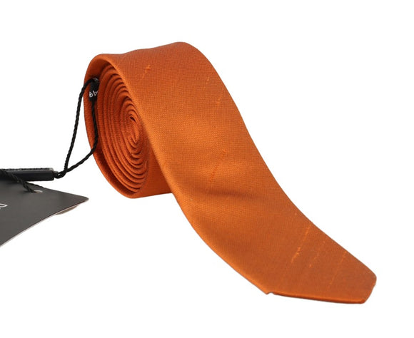 Orange Silk Solid Skinny Tie
