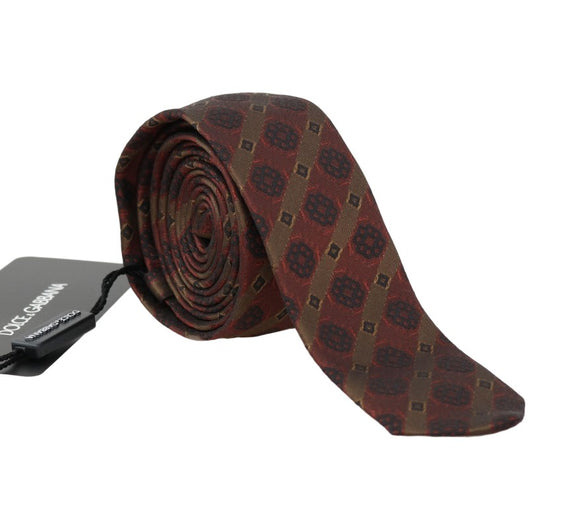 Bordeaux Silk Yellow Blue Slim Tie
