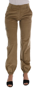 Beige Cotton Corduroys Pants