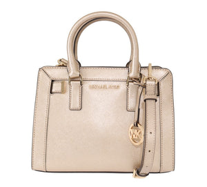 Pale Gold DILLON Leather Satchel Bag