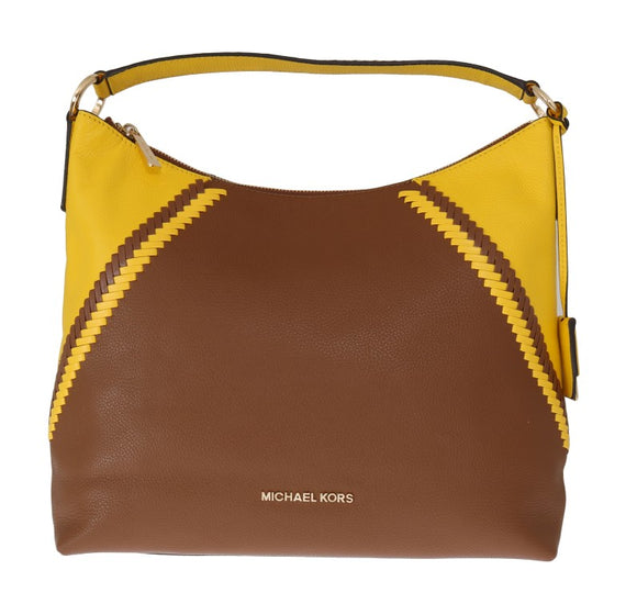 Brown Yellow KARSON Shoulder Bag