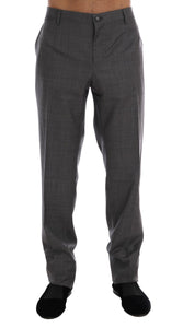 Gray Wool Dress Formal Pants